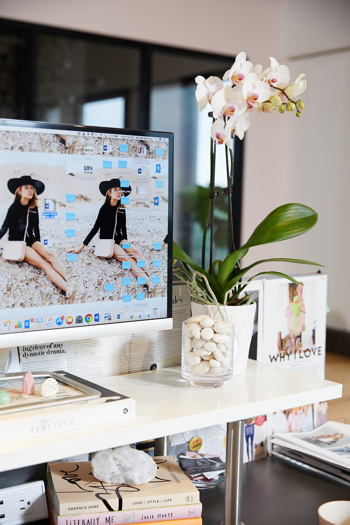 how to style your desk, what to wear to work, how to get your dream career