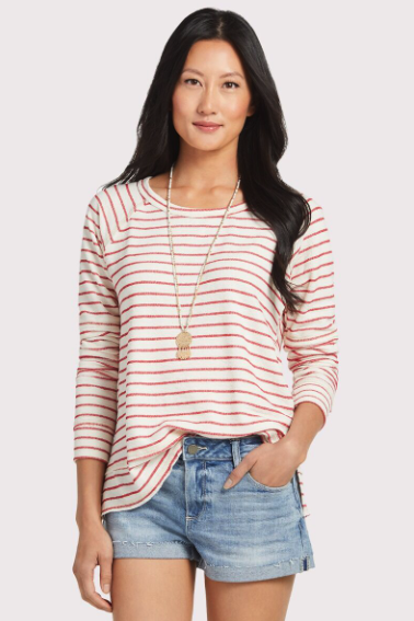what to wear for the fourth of july, stripe pullover