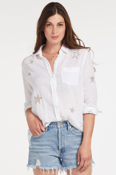 what to wear for the fourth of july, star buttondown