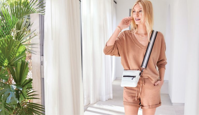 woman wearing a matching set