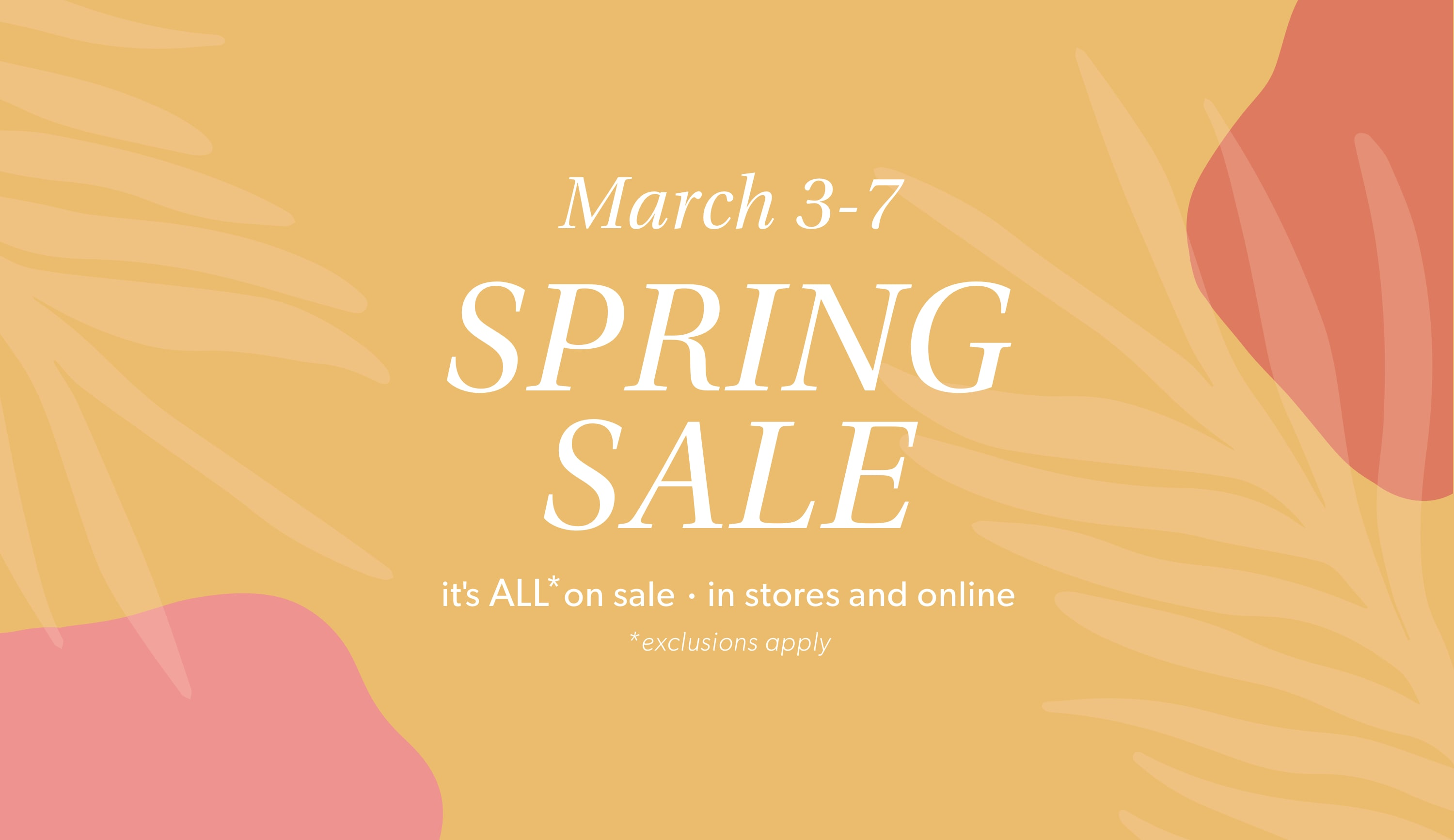 Spring Sale at EVEREVE March 3-7
