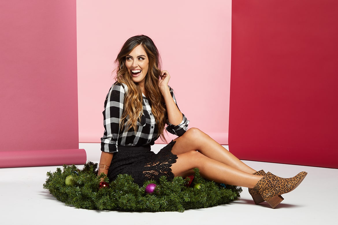 black lace skirt plaid flannel top and leopard print booties the perfect unexpected holiday outfit