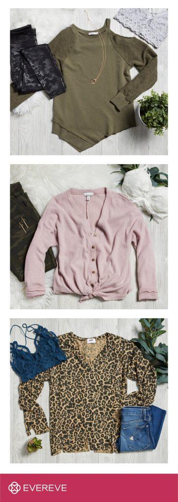 leopard print sweatshirt, thermal top, one shoulder sweatshirt