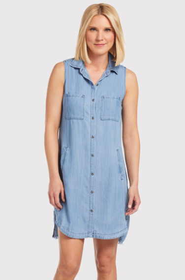 what to wear for the fourth of july, chambray dress